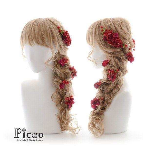 Gallery 236 Order Made Works Original Hair Accessory for WEDDING 真っ赤なカラー が印象的な #定番 #ローズ で #おしゃれ で #個性的 に # 鮮やか #ワントーン で魅せる #ラプンツェル スタイル が素敵スギ # #カラードレス #結婚式 #オーダーメイド #髪飾り #前撮り # #花飾り #造花 #ヘアセット #ヘアアレンジ #三つ編み #ウェディング #ブライダル #hairdo #flower #hairaccessory #picco #wedding #hairarrange #bridal #rapunzel #princess ただ今、大変混雑しております。 ご注文日より1ヶ月以上お時間を頂く場合もございますので ご依頼はお早めにお願いいたします。