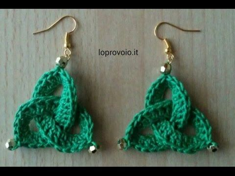 DIY TUTORIAL ENG/ITA ORECCHINI UNCINETTO EARRINGS CROCHET CIRCLE FLOWER PARTE 1 DI 2 - YouTube