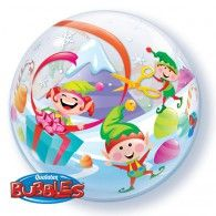 56cm Bubble Merry Elves Christmas $15.95 (Inflated) Q50982