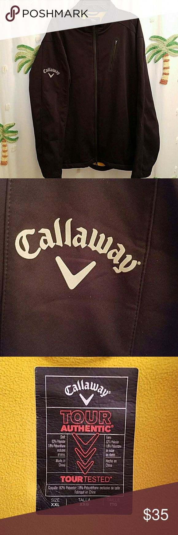 Callaway Tour Authentic golf jacket Mens Callaway XXL tour Jacket in great condition I  have only worn this a hand full if times. No issues great fitting and very comfortable. Callaway Jackets & Coats Performance Jackets