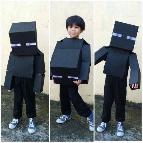 Diy Minecraft Enderman Costume Diy Costumes Diy Halloween