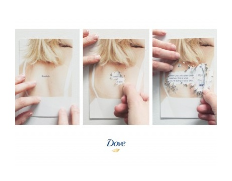 Dove Body Wash Scratch Ad by Ogilvy & Mather