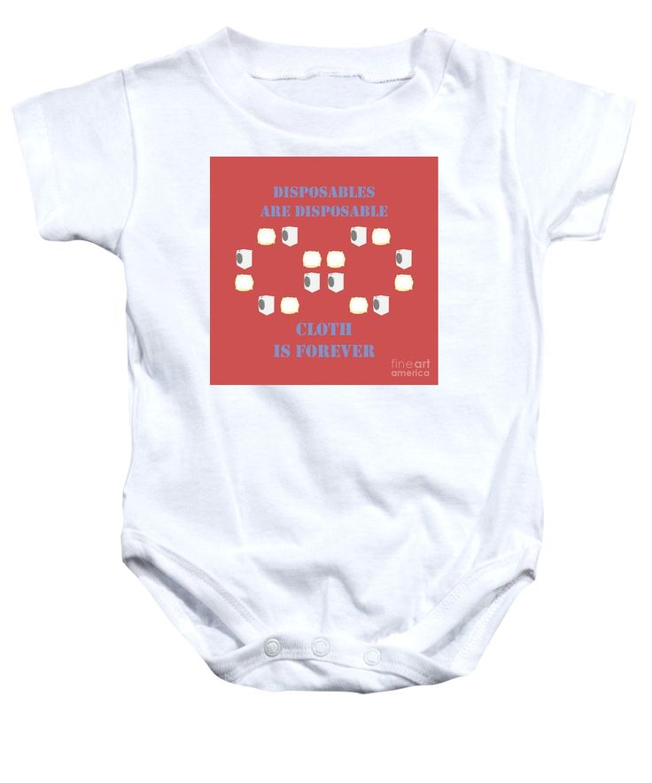 Cloth Diapers Baby Onesie featuring the mixed media Cloth Diapers Forever 4 by Sverre Andreas Fekjan
