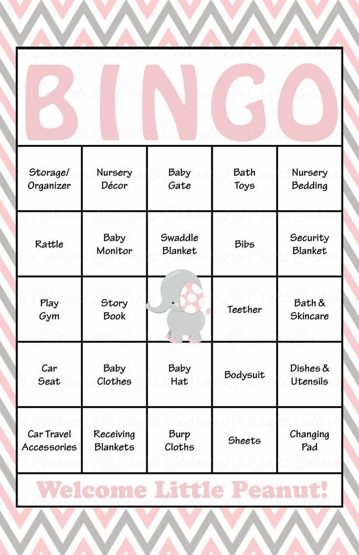 Baby Bingo For Baby Shower