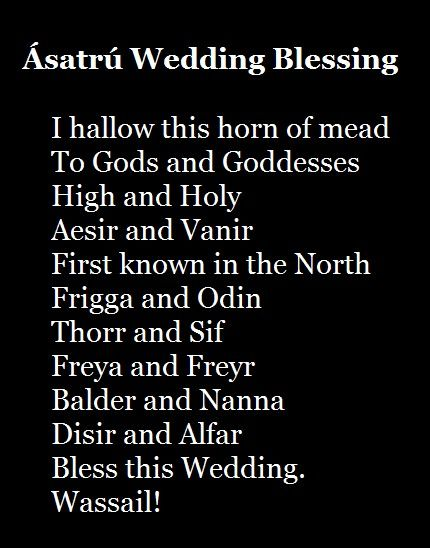 This will definitely be read at my wedding Viking, Pagan, Ásatrú Wedding Blessing