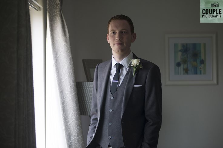 groom, all ready to leave for the ceremony. Real Wedding by Couple Photography