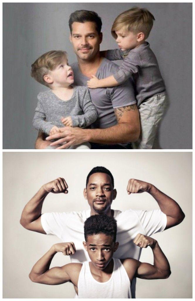 Papa love <3 #RickyMartin #WillSmith