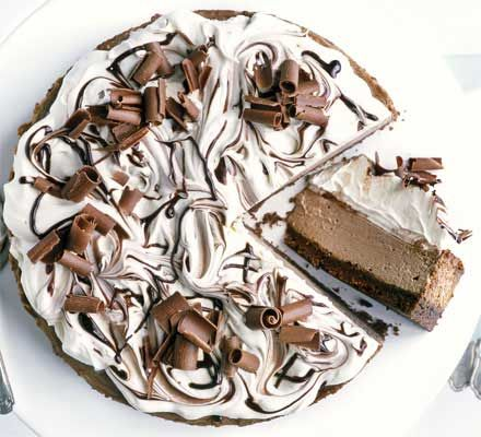 Double chocolate cheesecake recipe - Recipes - BBC Good Food