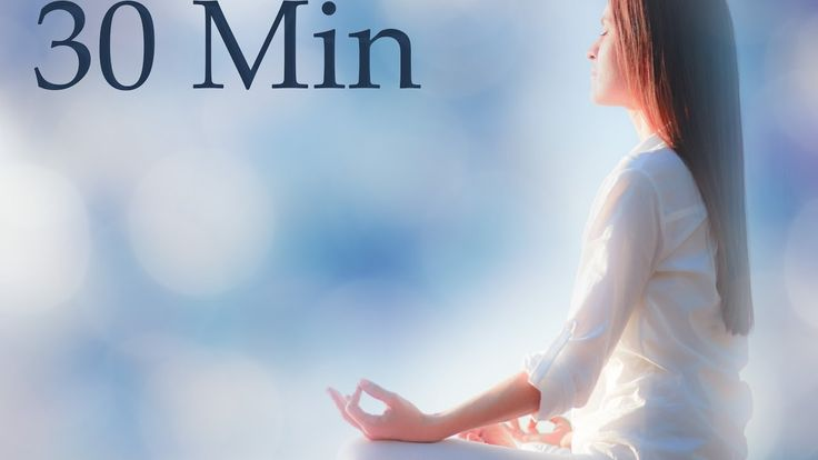 30 Minute Meditation Timer with Sound Healing Crystal Bowls, Crystal Bow...