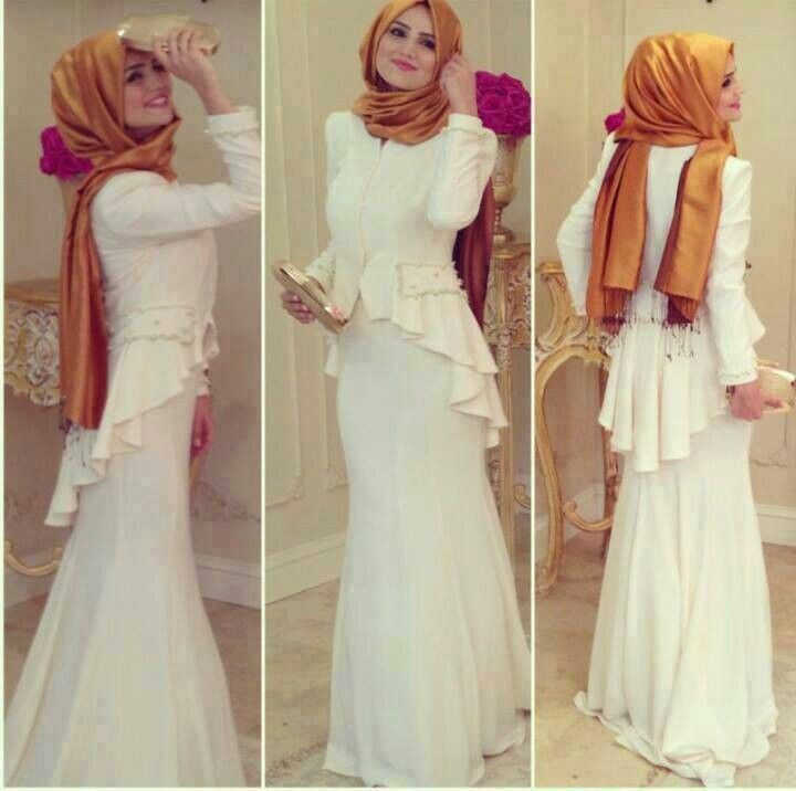 Like this outfit with the peplum. Hijab fashion