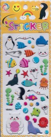 Sea Animals - Pentique Stationers - Puffy Stickers
