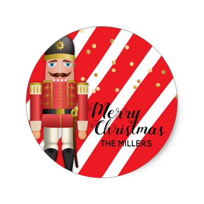 Party Favors Winter Holiday 10 Make Your Own Christmas Nutcracker Stickers