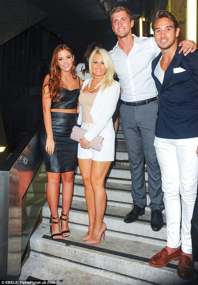 Jacqueline Jossa and Dan Osborne enjoyed a few drinks with Dan's TOWIE co-stars James 'Lockie' Lock and Danielle Armstrong at the event