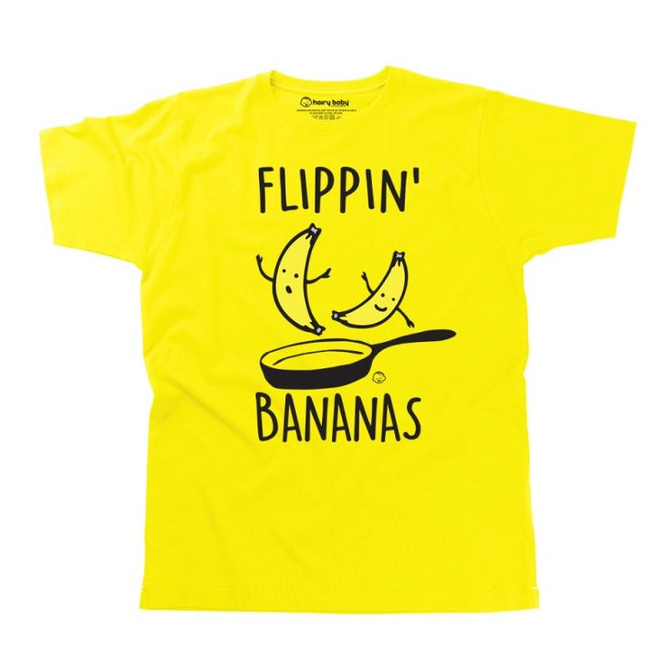 Flippin' Bananas Men's T-Shirt by HairyBaby