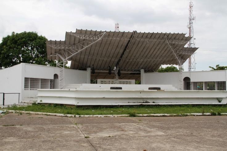 El escenario del festival del porro en San Pelayo