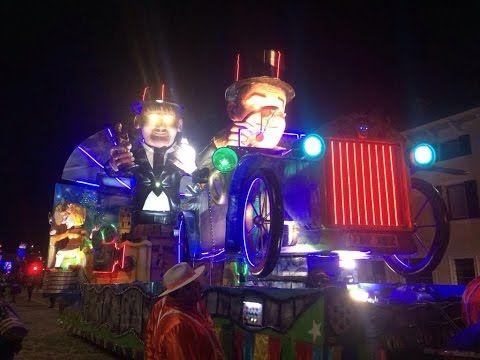 Carnevale 2017 - Sfilata notturna di carri allegorici a Villafranca ( VR...