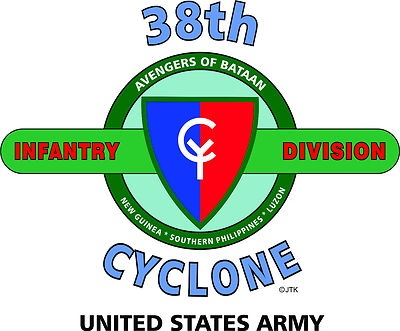"38th Infantry Division "" Cyclone"" United States Army Shirt"