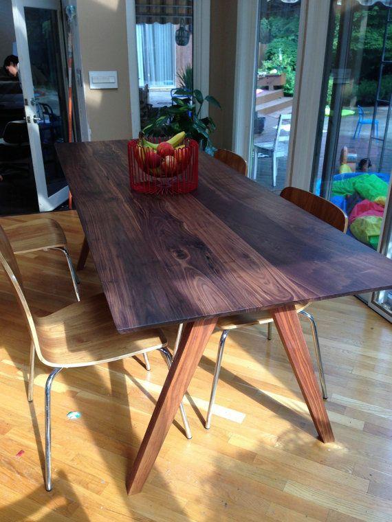 Sputnik Solid Walnut Dining Table Mid Century By Moderncre8ve