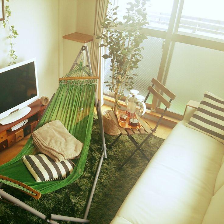 観葉植物/ソファー/IKEA/椅子/テレビ台/クッション…などのインテリア実例 - 2014-08-08 11:45:31 | RoomClip(ルームクリップ)