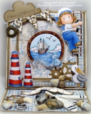 Cards made by Chantal: Nautical Scene part 1 & 2...