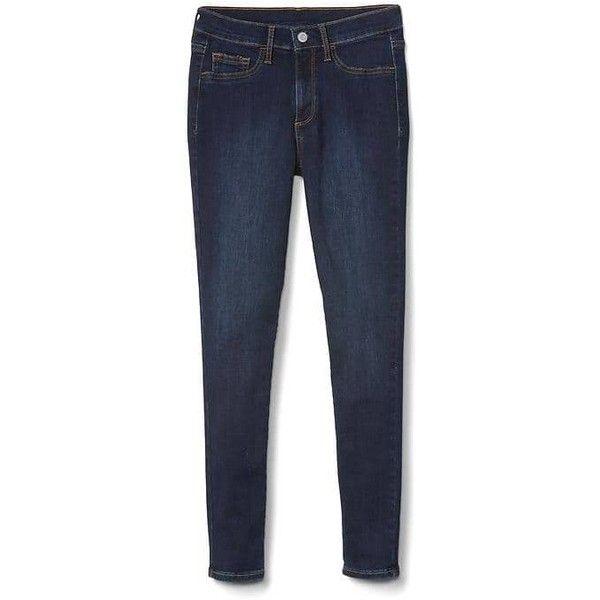 Gap Women Mid Rise Denim Easy Leggings ($60) ❤ liked on Polyvore featuring pants, leggings, dark scrape, regular, gap pants, gap leggings and gap trousers