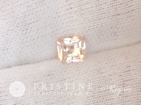 Radiant Cut Peach Sapphire Wholesale September Gemstone #anniversary #Bead #champagne_pink