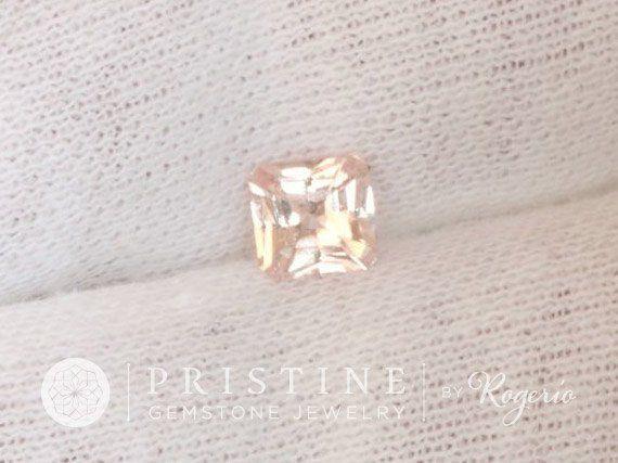 Radiant Cut Peach Sapphire Wholesale September Gemstone #anniversary #Bead #champagne_pink