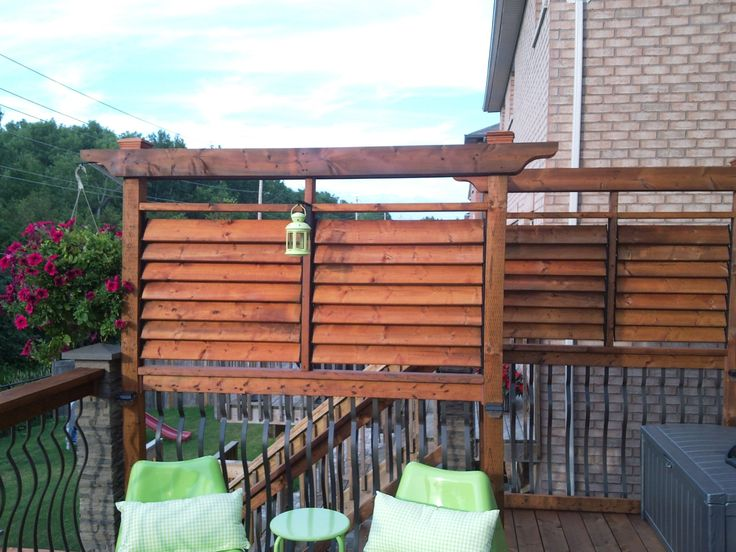 decks louver extra privacy deck creative backyard fence ideas