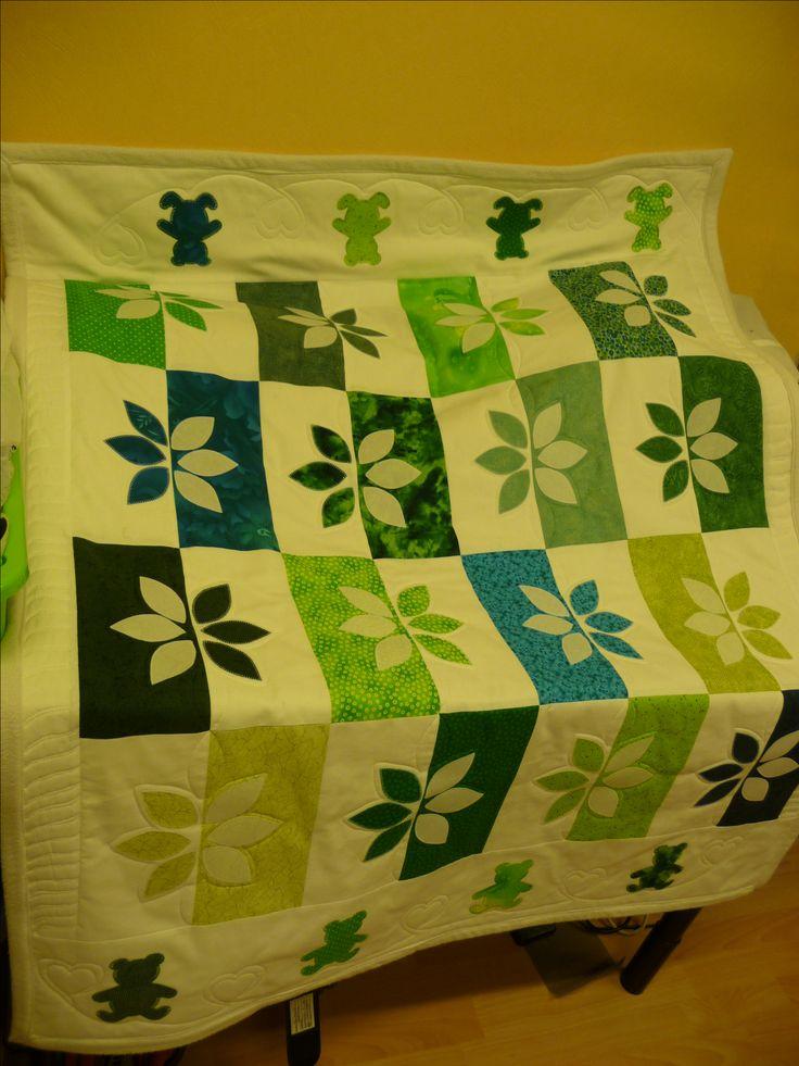 Egen designet og quiltet barneteppe