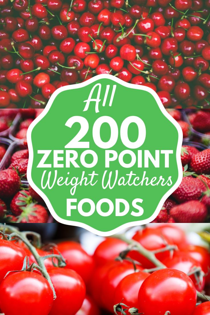 All 200 Zero Point Weight Watchers food in the new Weight Watchers Freestyle Program!