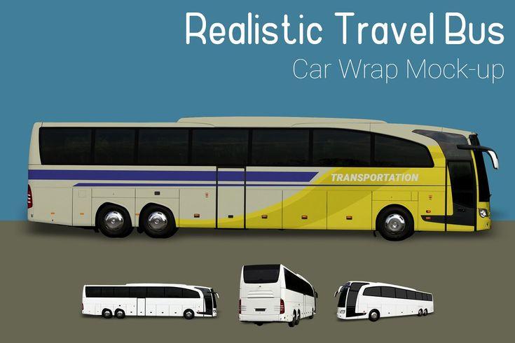 Travel Bus Mock Up Bus Mocking Mockup