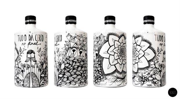 Artista portuguesa reaproveita garrafas e cria peças de decoração únicas