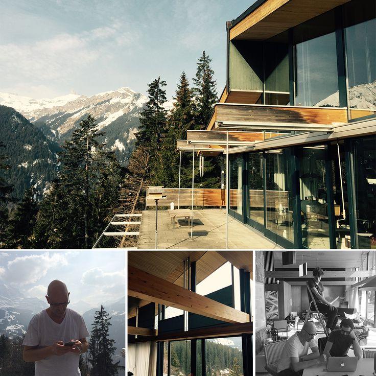 Richard Neutra's house with an ample view in Wengen Switzerland  Focussed creative team (photographer Pierluigi Macor, Art Director Oliver Glutz von Blotzheim, assistant Théo Armand)