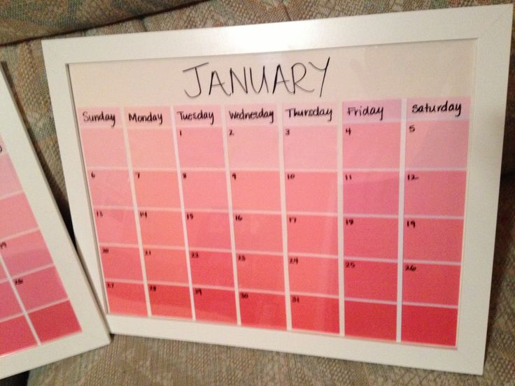 Best  Paint Sample Calendar Ideas Only On   Paint
