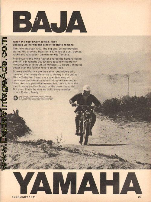 1971 Baja Yamaha – RT1-B 360 Enduro