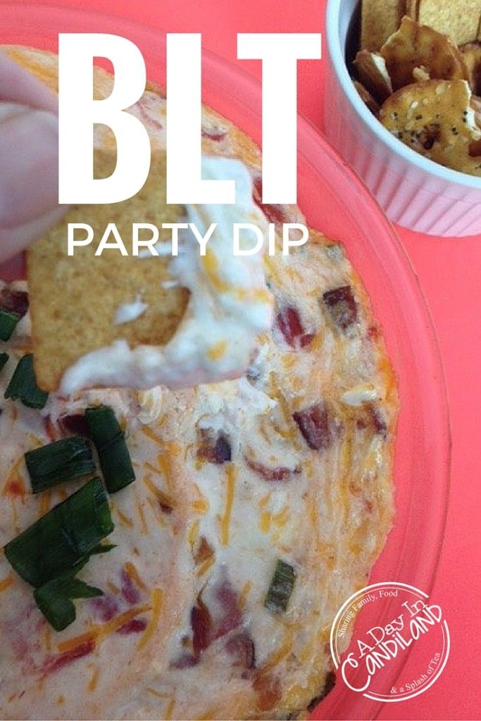 A Day In Candiland | BLT Party Dip perfect for game day or holiday or anytime you want a delicious appetizer  | http://adayincandiland.com