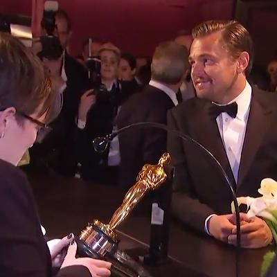 Red Carpet: Leonardo DiCaprio Getting His Oscar Engraved Is the Best Thing You'll See All Day: 'Do You Do This Every Year?'