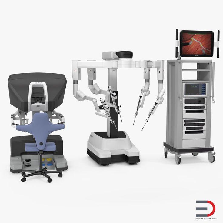 3D model Da Vinci Surgical System Rigged
