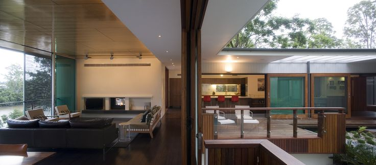 Fig Tree Pocket House 2: Indoor-Outdoor relationship. See more at http://blighgraham.com.au/projects/fig-tree-pocket-house-2