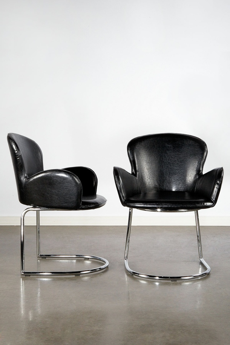Design glossary savonarola and dante chairs apartment therapy - Statements By J Kennedy Club Chairs Black Silver Set Of 2 324 00 848 00