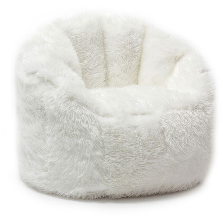 Sink into the BeanSack Big Joe Milano chair and relax while chatting with friends or watching your favorite TV shows. This comfortable faux fur chair with back and arm rests is filled with long-lastin