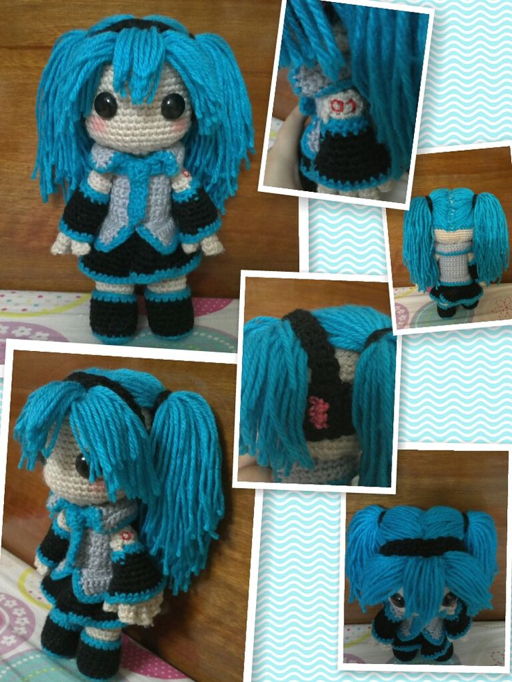 Hatsune Miku sackgirl doll by NVkatherine on deviantART