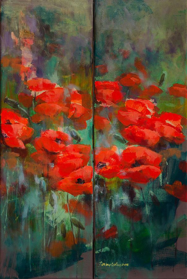 Poppies  Painting by Dorina Costras