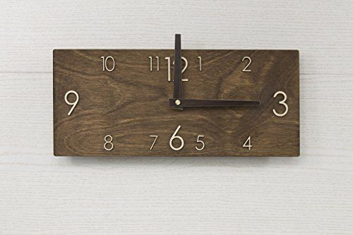 Wooden Wall Clock - Handmade Dark Brown Wall Clock