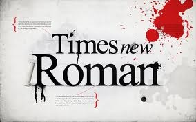 Times new Roman font - typography