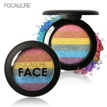 Pro Arco Iris Resaltador Maquillaje Polvo Colorete Corrector Paleta Cosmética Contour Shimmer Sombra de Ojos Para la cara Mak up Prisma Al Horno(China (Mainland))