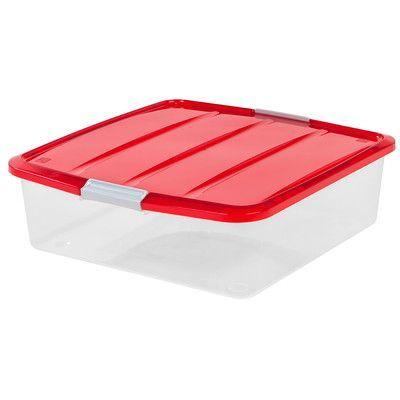 "IRIS 20"" Wreath Storage Box Color: Red"