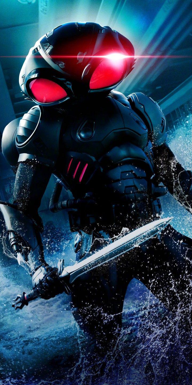 Aquaman 2018 Textless Poster Feat Black Manta Black Manta Black Comics Aquaman