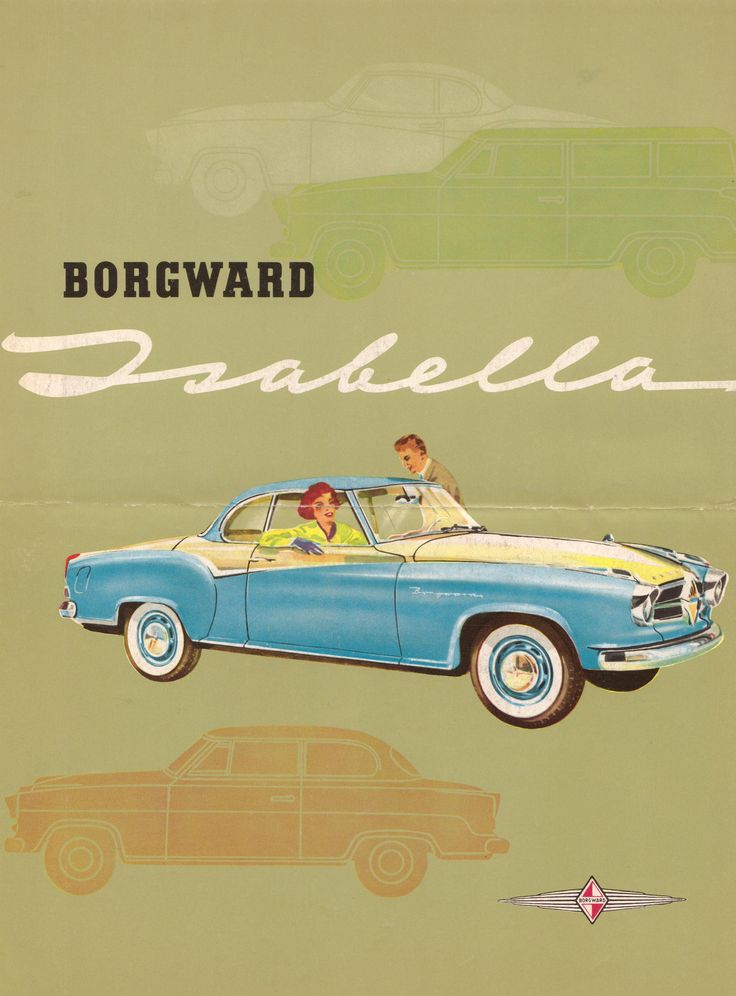 1959 Borgward Isabella Coupe - Vintage German Car. The Borgward Isabella is an automobile which was manufactured by the Bremen based auto-manufacturer Carl F. W. Borgward GmbH from 1954 to 1962. The Isabella was to have been marketed as the Borgward Hansa 1500 but the Isabella name was used on test vehicles and proved popular with engineering staff and media. http://en.wikipedia.org/wiki/Borgward_Isabella