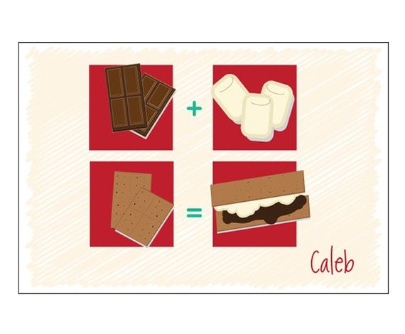 Brown S'mores Postcard| Personalized Camp Stationery | Camp Stationery | Summer…